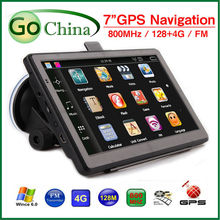 wholesale 5 pcs/lot 7 inch  car GPS navigator  navigation gps MTK 800MHz 800*480 4G FM MP3/MP4 offer new maps and dropshipping,