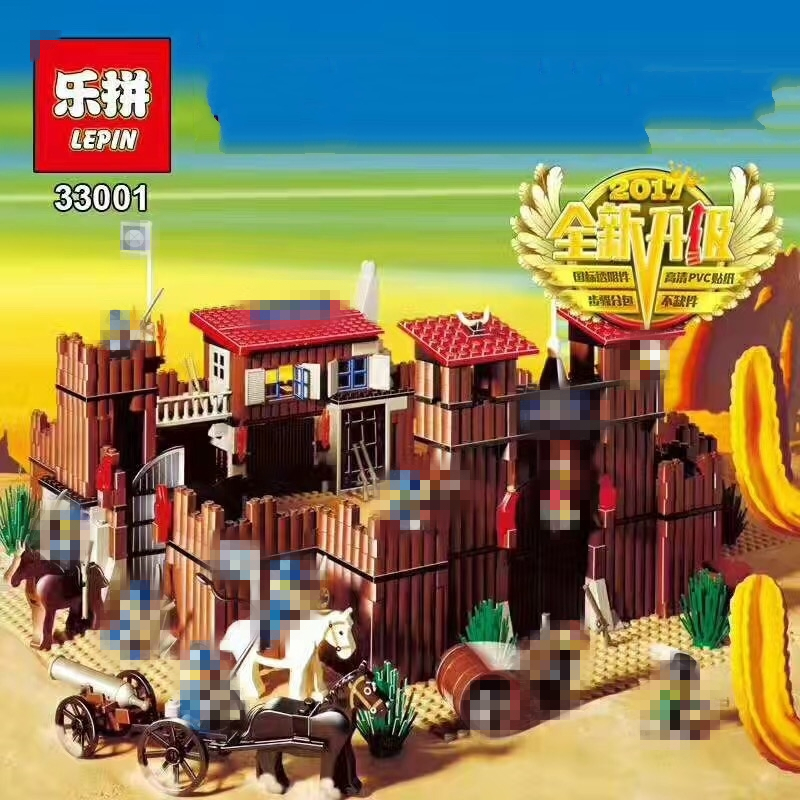 Lepin 33001 742Pcs Genuine Building Series The Idian Cowboy`s Castle Set Educational Building Blocks Bricks Toys Model Gift <br>
