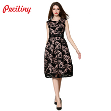 Buy Peritiny Euro 2018 Summer Dresses Casual Sleeveless Jacquard Long Dresses Ladies Clothing Women Elegant Slim Party Dresses for $19.84 in AliExpress store