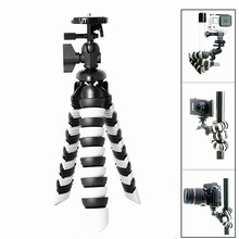 DSLR Camera + Action Cam Mini Octopus Tripod 2-in-1 Flexible Gorillapod for iPhone GoPro Canon Nikon Sony Camera