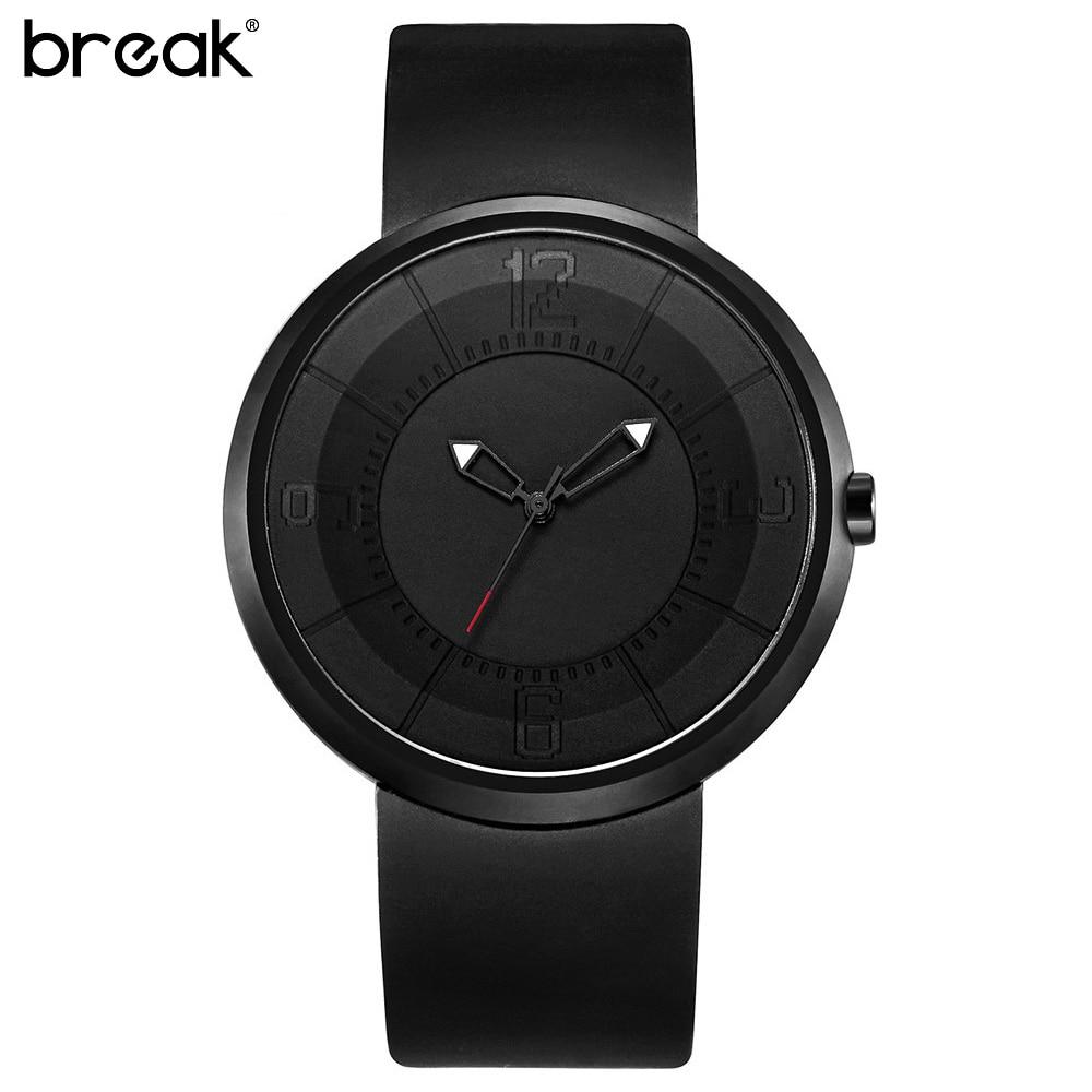 Black Simple Mens Quartz Watches Military Rubber Waterproof Wristwatch Clock Fashion Casual Women Men Analog Watch Montre Homme<br>