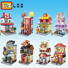 LOZ Mini Blocks City View Scene Coffee Shop Retail Store Architectures Models & Building Quiz Christmas Toy for Children(China)
