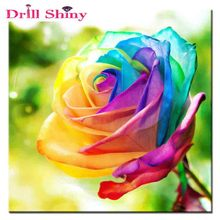 Buy New Needlework Diy Diamond Painting Colorful Roses Diamond Embroidery Square Drill Draw Paste Picture mosaic for $4.76 in AliExpress store