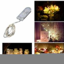 PROBE SHINY 30 LED Silver Wire String Light 3m Waterproof CR2032 Battery Lamp String Lights for Festival Wedding Party Home(China)
