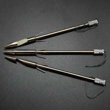 Hot sale Outdoor Hunting High Quality 2Pcs Stainless Steel Bow Arrowhead Slingshot Catapult Dart Hunting Shooting Fish Hand Tool(China)
