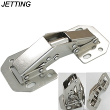 JETTING 1PCS Cabinet Cupboard Sprung Door Hinges 90 Degree Easy Mount Concealed Kitchen Cabinet Cupboard Sprung Door Hinges Use(China)