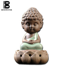 BENEWOTER Longquan Ceramic Porcelain Tathagata Buddha Coil Incense Burner Aroma Cone Incense Censer Stove Plate Smoke Furnace(China)
