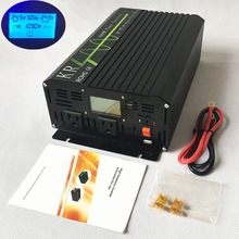 Car Power Inverter 1000W Peak 2000W Pure Sine Wave 12V/24V/48V to 100V/110V/120V/220V/230V/240V with LCD Display USB Port