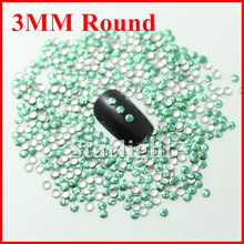 [ Retail ]Hot selling beauty nai art decorations laser 3MM Round purple corlor 1000pcs free shipping
