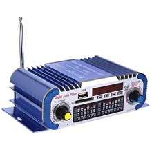 Hi-fi Mini Car Power Amplifier Stereo Sound Mode LED Digital Auto Audio Player Music Support 2 Channel USB FM SD Car Subwoofer