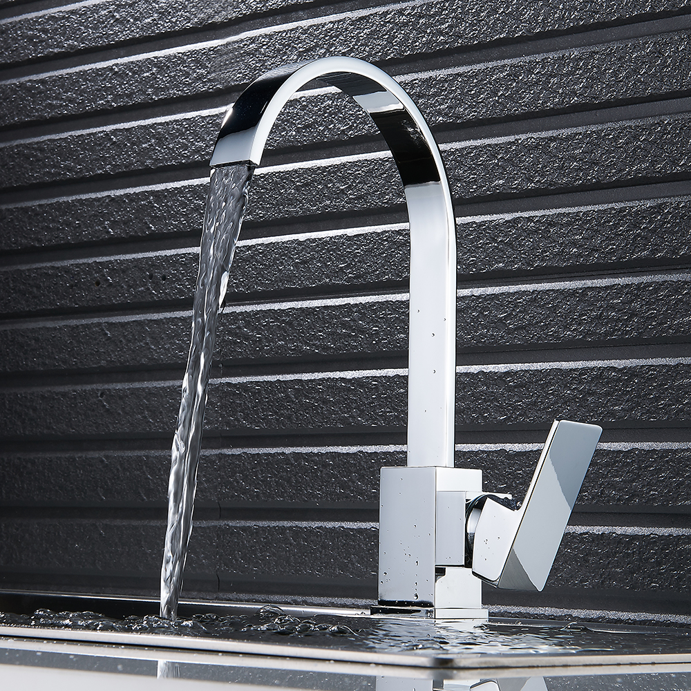 Waterfall Faucet Water Tap for Kitchen Faucet Single Hole Kitchen Taps 360 Swivel Kitchen Sink Mixer Tap Faucet Torneira<br>