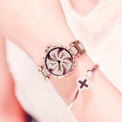 Женские кварцевые алмазные водонепроницаемые часы