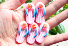 30pcs/lot flat back resin cabochons accessories DIY resin kawaii shoes 17*35mm(China)