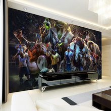beibehang Customize Any Size 3D Large Mural Game Wallpaper Bedroom Living Room TV Internet Cafes Backdrop Game Characters Mural