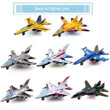 Alloy Military Aircraft Model Kids Fighter Pull Back  Plane Toys for Children Randomly Sent