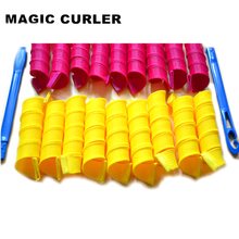 18pcs/lot 2 colors with 40cm long Creative Magic Hair Curlers Tool Magic Curler Rollers with 2 Stick