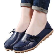 2017 fashion Soft casual flats shoes woman Loafers Mother Shoes Genuine Leather Shoes ballet oxford shoes for women