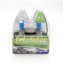 GRANT 10Sets 35W H8 Halogen Xenon Bulbs 12V 6000K Pure White Quartz Glass Auto Foglights Headlamp For Car Free Shipping(China)