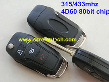 Remote Key for FORD New Focus Mondeo Fiesta Fusion Galaxy C Max S Max Keyless Entry FOB Car Alarm N5F-A08TAA