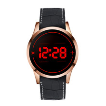 Mens Watch Men's Fashion Leather Band LED Digital Touch Screen Date Silicone Wrist Watch Luxury Watch Men Relojes De Hombre@KB