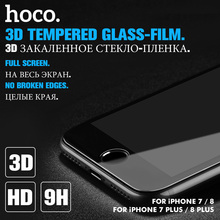 HOCO for Apple iPhone 7 8 PLUS 3D Tempered Glass Film 9H Screen Protector Protective Full Cover for Touch Screen Protection(Hong Kong)