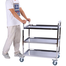 3 Tier Coffee Tables Storage Holders Stainless Catering/Dining Service Food Hotel Restaurant Storage Trolley Shelf Display Rack