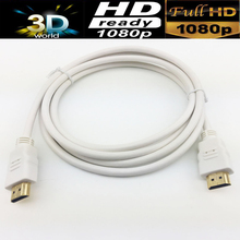 White HDMI cable 6ft 1.8M HDMI 1.4V white gold-plated for PS4,HDTV,Blue DVD player etc.(China)