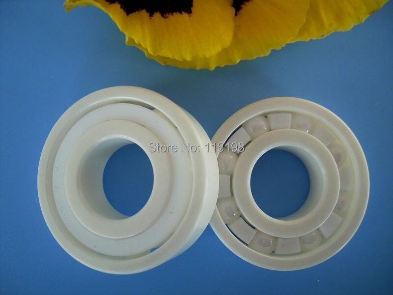6201 full ZrO2 ceramic deep groove ball bearing 12x32x10mm P5 ABEC5<br>