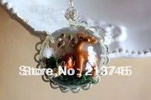 Free ship !!! 2013 NEW 50pcs/lot 20mm half glass ball cover pendent globe glass vial DIY (the price is only bottle)(China)
