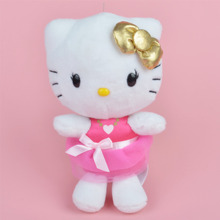 22cm Pink Skirt Hello Kitty Plush Toy, Girl Baby Gift, Kids Doll Wholesale with Free Shipping