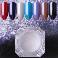 1g Pearl Shimmer Powder Shining Diamond White Nail Glitters Chrome Powder DIY Manicure Nail Art  Decoration