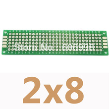 Buy 5pcs/lot 2x8cm Double Side Copper Prototype PCB Universal Printed Circuit Board Protoboard DIY Experimental Plate Arduino for $2.48 in AliExpress store