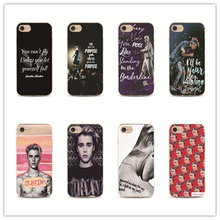 Canada singer Justin Bieber phone case for iPhone 6 7 plus 4 4s 5 5s 5c se 6s for Samsung S5 S4 S6 S7 edge quotes pattern cover