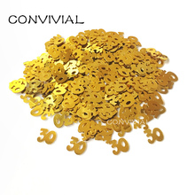 Age Confetti 21th/30th/50th/60th Happy Birthday Anniversary Party Decoration Digital Table Confetti Party Supplies PA200(China)