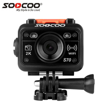 Action Camera SOOCOO S70 2K 1080p 60M Waterproof mini Video Build-in WIFI with Watch Remote Control sport DV sport camera(China)