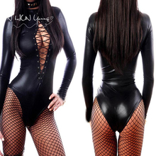 Sexy Lingerie Hot Women Prisoners Wild Charm Pu leather Artificial Teddy Sexy Babydoll Erotic Lenceria Costumes QP008(China)