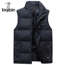 New 2017 Brand Men's Vest Jacket Coat Sleeveless Vests Homme Winter Casual Male Plus size 4XL Warm Jacket Vest Men Waistcoat