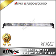 "42"" 240W led work light bar off road ATV UTV SUV 4x4 truck dune buggy 4WD racing vehicles high power spot driving headlight"