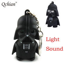 Star Wars Key Chain Led Light Sound Keychain Storm Trooper llaveros Key Holder Darth Vader Yoda Anakin Skywalker Action Figure(China)
