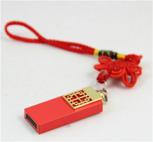 Red Chinese Knot Ceramics Cle Usb 2.0 Flash Drive 64GB Pen Drive USB Stick 32GB Pendrive 128GB Memory Card 512GB Creativo Gift(China)