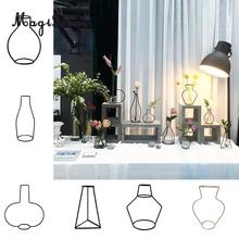 MagiDeal Metal Iron DIY Vase Frame Flowers Stand  Plant Holder  Flower Pot Home Table Decor