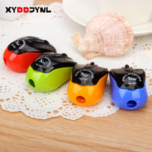 New Kawaii Cartoon Mouse Pencil Sharpener Cute Little Like Cutting Pen Pencil Sharpener Wholesale Cut 1Pcs Knife Pencil Shavings