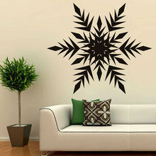 Arrowed Snowflake Wall Mural Living Room Wall Decorative Sticker PVC Removable Home Decor Art Christmas Wall Decal