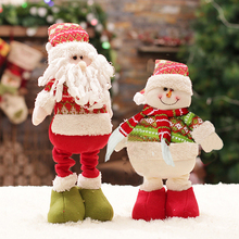 Christmas Decorations For Home Santa Claus Snowman Dolls Christmas Dolls For Kids Standing Figurines Toys Adornos Navidad Noel(China)