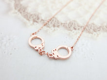 DANGGAO fashion Handcuff Pendant Necklace for women choker necklace tiny charm necklace Gold and Silver and Rose Gold