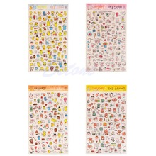 1Pc DIY Funny Cute Cartoon Stickers Diary Scrapbook Calendar Label Decoration Korean Free shipping