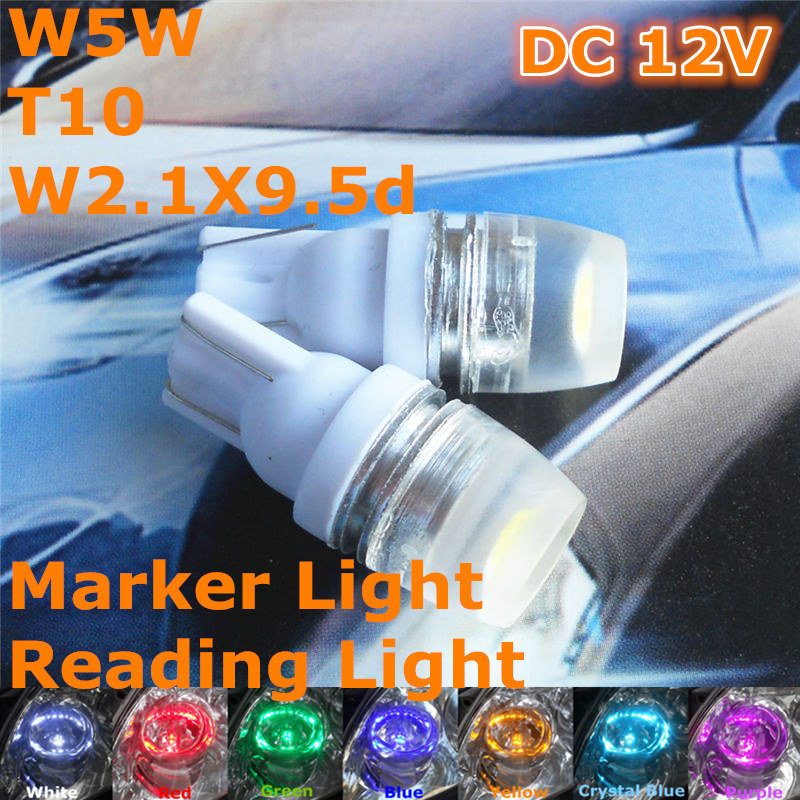 Stock Shipping New 12V CE LED Car Bulb T10(High Power Spot Lamp)W5W W2.1X9.5d for Marker Trunk Boot Licence Reading Light<br><br>Aliexpress