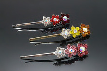 12pc Fashion Rhinestone Hairpins Elegant Barrette Brides Cool Hair Pin Bridal Hair Jewelry Accessories 0690-1