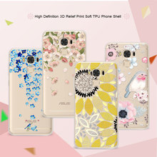 "3D Art Print Case Coque For Asus Zenfone 3 Max ZC553KL 5.5"" Flower Lace Relief Soft TPU Phone Cases Cover For Asus Zenfone 3 Max"