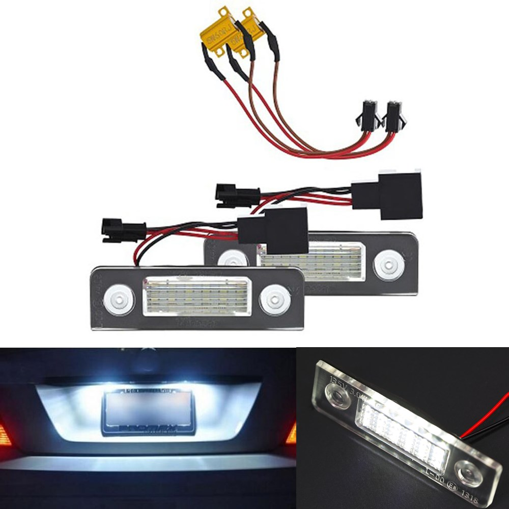 2x Canbus 18LED License plate light number plate lamp Car Light Bulbs for Skoda Octavia II Pre-facelift facelifted Roomster 5J<br><br>Aliexpress